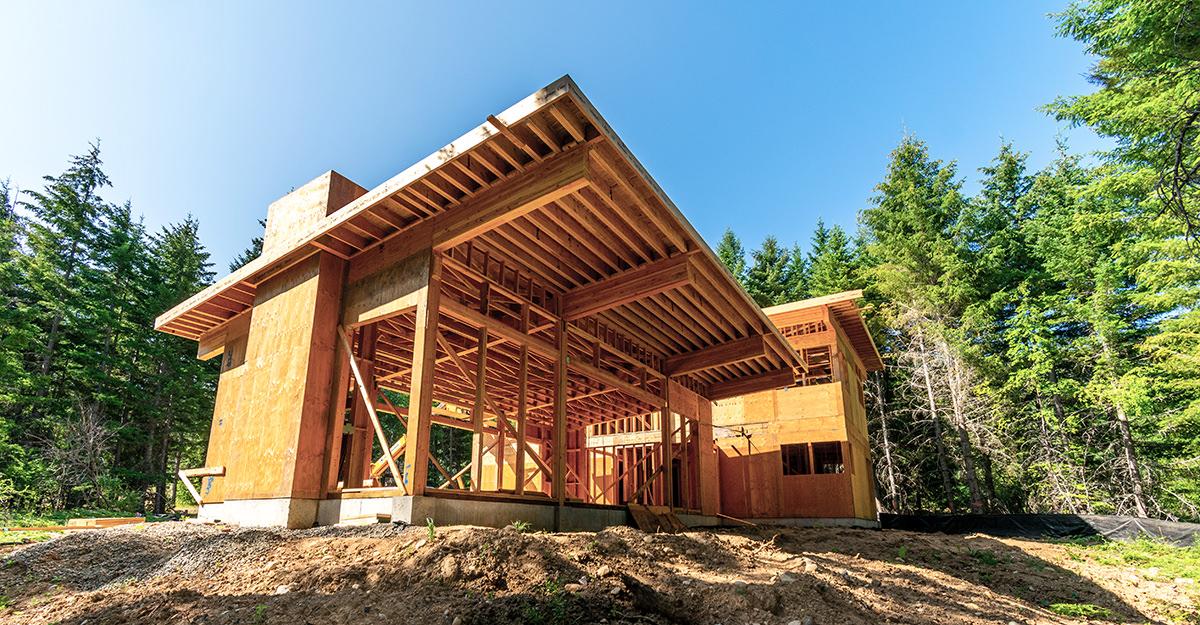Framing a custom home